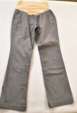 women's Old Navy maternity pants size 12 gray stretch belly wrap bootcut cotton