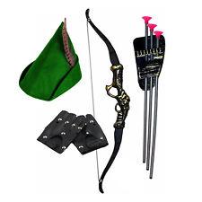 Kids Robin Hood / Peter Pan Fancy Dress Costume (Bow & Arrows, Gloves & Hat)