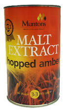 Muntons Liquid Malt Home Brew Extract- Amber Hopped,3.3Lbs