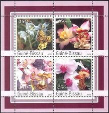 Guinea Bissau 2003 Orchids/Fungi/Flowers/Mushrooms/Plants/Nature 4v m/s (n10339)
