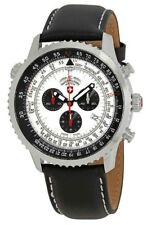Swiss Military 29501 Thunderbolt Chronograph Leather Silver Dial Men's Watch