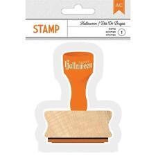 "American Crafts ""Happy Halloween"" Wood Stamp"