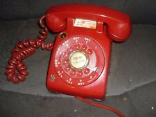 Vintage RARE W ELEC BELL RED Rotary Dial Phone U 500 1958 FIRE  DISPATCH  PHONE