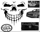 Skull Face Sticker Decal Car Truck Door Body Hood Chrome Or Colors