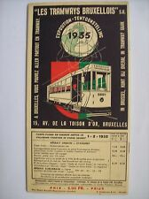 tramway tram exposition Bruxelles 1935 tarif trajets horaire indicateur plan