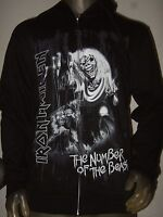 New Men's Medium Iron Maiden The Number Of The Beast Metal Band Hoodie Sweater