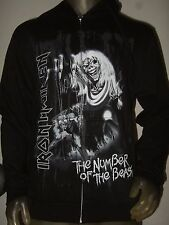 New Men's Small Iron Maiden The Number Of The Beast Metal Band Hoodie Sweater