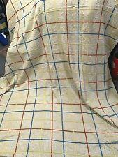 "Vtg Fabric Twill Bedspread 90""X 72"" Cutter Crafts 1940'S Squares Sun Heart Birds"
