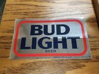 "Vintage Bud Light Sticker 9.25"" X 5.50"""