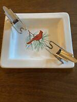 Vintage Cigarette Chaperone And Ceramic Christmas Ashtray - Prevents burning MCM