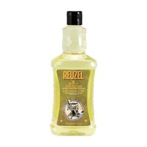 Reuzel 3-in-1 Tea Tree Mens Hair Shampoo, Conditioner, Body Wash 350ml