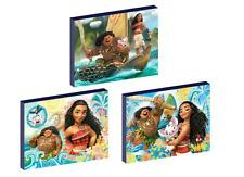 3 x MOANA CANVAS ART BLOCKS/ WALL ART PLAQUES/PICTURES