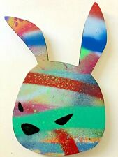 Luke Chueh Rabbit Head unique painting and sculpture mint signed