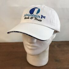 New Mountain First Bank and Trust White Cotton Adjustable Cap Hat CH31