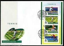 SOLOMON ISLANDS 2015 TENNIS SHEET FIRST DAY COVER