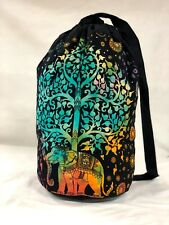 Indian Elephant Backpack Bag Hippie Casual Bag Ethnic Cotton Unisex Bag Boho Bag