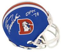 Randy Gradishar Signed Denver Broncos T/B 'D' Riddell Mini Helmet w/DPOY - SS