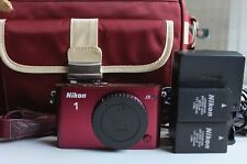 Crimson Red Nikon 1 J3 14.2MP Digital Camera Body Only- Excellent!