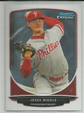 Jesse Biddle Philadelphia Phillies 2013 Bowman Draft Chrome Top Prospects
