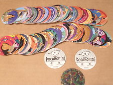 POCAHONTAS POG CANADA GAMES COMPLETE SET of 78 WITH SLAMMERS/KINIS