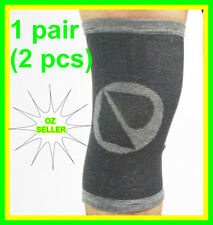 NATURAL BAMBOO KNEE BRACE SUPPORT PROTECTION INJURY STABILIZER TWIN PACK 3 SIZES