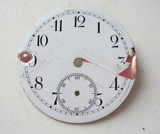 Vintage Enamel Pocket Watch Dial Esfera Cadran Zifferblatt 40mm  00004000