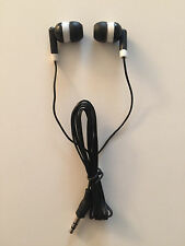 Lot of 100 Disposable Black 3.5mm Earbuds Earphones Cell Phones/MP3