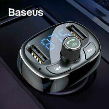 Baseus KFZ Bluetooth FM Transmitter MP3 Player Auto Radio USB Ladegerät Adapter