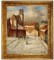Gemälde Ölbild handgemalt Bild historische Stadtansicht Ölgemälde F:50x60cm