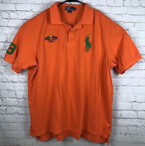 Ralph Lauren Polo Size 3XL Big 3XB Short Sleeve Polo Shirt Orange Big Pony