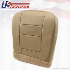 2001 Ford F-350 Dually Lariat Driver Bottom Leather Seat Cover Parchment TAN