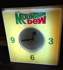 1970 Authentic Price Brothers Mountain Dew Advertising Lighted Wall Clock