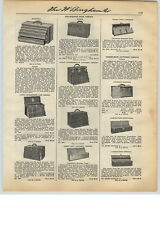 1931 PAPER AD Union Kennedy Machinist Tool Box Chest Stanley Toll Chest Box