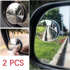 2PCS Universal AUTO ACCESSORIES Car Convex Wide Angle Round Blind Spot Mirror