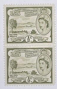 Travelstamps: 1954 St Kitts Nevis Sc #120 Saint Christopher Anguilla MNH OG PAIR