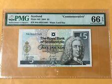 SCOTLAND 2004 COMMEMORATIVE £5 R&A 0241688 PMG 66EPQ GEM UNC