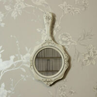 Cream vintage vanity wall mirror shabby vintage chic ornate girls room gift