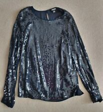 DKNY Navy Blue Sequin Top (Used) Size S