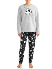 XL Nightmare Before Christmas 2 Piece Plush Pajama Set~LS Top Fleece Pants