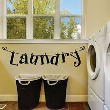 Laundry Room Wall Sticker Removable Home Decor Vinyl Arts Mural Decal Washhouse
