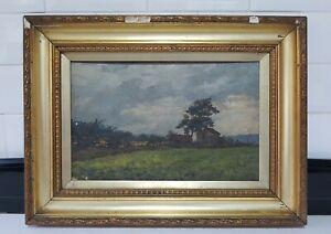 #2 Original Old Antique English School Impressionist Landscape Oil Painting
