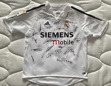More details for rare signed real madrid galacticos 03/04 season shirt  figo, zidane, raul & more