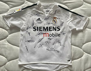 Rare Signed Real Madrid Galacticos 03/04 Season Shirt  Figo, Zidane, Raul & More
