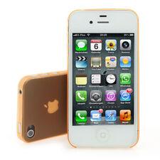 iPhone 4/4s Backcover ultra-dünn (Matt-Transparent) inkl. Schutzfolie in orange