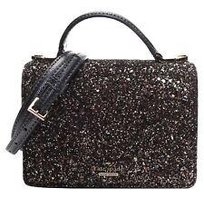 NWT Kate Spade Maisie Laurel Way Glitter Black Crossbody Mini Tote MSRP $249