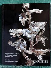 Catalogue de vente  Orfevrerie Art Russe Boite Objets D'Art de Vitrine