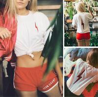2019 Fashion Loose T-shirt Lightning Lettering Tee Harajuku Style Tops Plus Size
