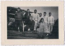 2. Weltkrieg, Soldaten mit Atlantikwall (?)-Geschütz, Original-Photo um 1940