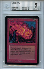MTG Alpha Fireball Graded BGS 9.0 (9) MInt card Magic the Gathering 7401
