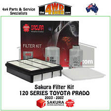 SAKURA FILTER KIT OIL AIR FUEL suits 120 SERIES TOYOTA PRADO KZJ120R 2003-2007